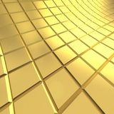 Gold tile background. 3D render Royalty Free Stock Image