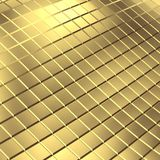 Gold tile background. 3D render Royalty Free Stock Photography