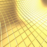 Gold tile background. 3D render Stock Photos