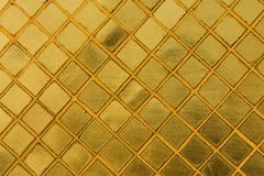 Gold tile mosaic background Royalty Free Stock Photo