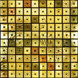Gold tiles Royalty Free Stock Image