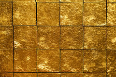 Gold tiles Stock Photography