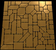 Gold tiles Royalty Free Stock Photos