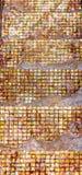 Gold tiles mosaic Royalty Free Stock Image