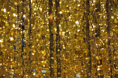 The gold tinsel Stock Image