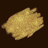 Gold tinsel abstract paint strokes Stock Image