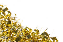 Gold tinsel and bead decoration Stock Photography
