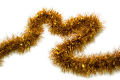 Gold Tinsel Christmas stock photography