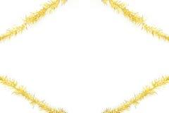 Gold tinsel frame Stock Image