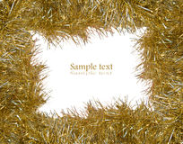 Gold tinsel with room for your text Royalty Free Stock Image