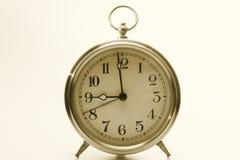 Gold tinted clock Stock Photography