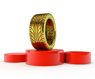 Gold tire Stock Images