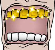 Gold tooth stock illustration