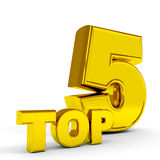 Gold TOP five. Royalty Free Stock Photos