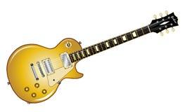 Gold Top Guitar Stock Image