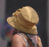 Gold Top Hat at Jazzfest Stock Photo