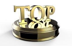 Gold TOP on podium Stock Photos