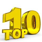 Gold top ten. Royalty Free Stock Image