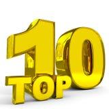 Gold top ten. Royalty Free Stock Image