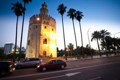 Gold Tower Seville royalty free stock photography