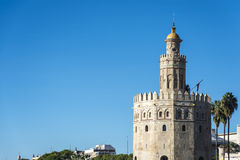 Gold Tower in Seville, southern Spain. Stock Photos
