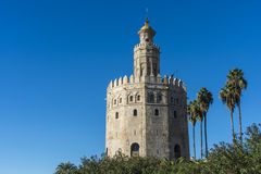 Gold Tower in Seville, southern Spain. Royalty Free Stock Images