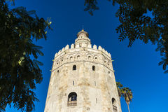 Gold Tower in Seville, southern Spain. Royalty Free Stock Photography