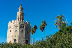 Gold Tower in Seville, southern Spain. Stock Image