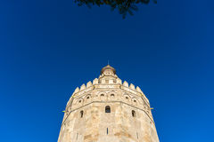 Gold Tower in Seville, southern Spain. Royalty Free Stock Photo