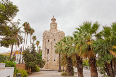 Gold tower in Seville Royalty Free Stock Images
