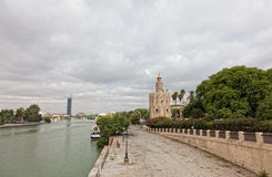 Gold tower in Seville Royalty Free Stock Photo