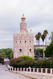 Gold tower in Seville Royalty Free Stock Photos