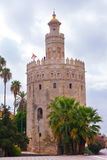 Gold tower in Seville Royalty Free Stock Image