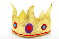 Gold toy crown Stock Photography