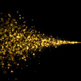 Gold trail glitter background Stock Photos