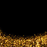 Gold trail glitter background Royalty Free Stock Images