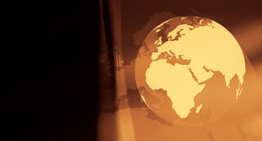 Gold travel planet background. World globe on abstract background Royalty Free Stock Photos