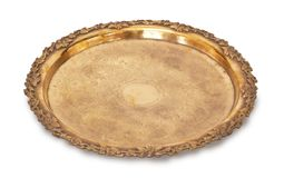 Gold tray Royalty Free Stock Photos