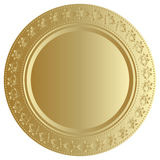 Gold tray. Vector illustration of gold tray Stock Image