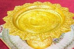 Gold tray Royalty Free Stock Photo