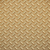 Gold tread plate. A very large sheet of gold diamond or tread plate Stock Image