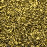 Gold treasure background Stock Photography