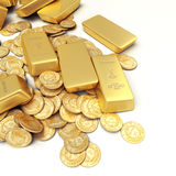 Gold treasure Stock Images