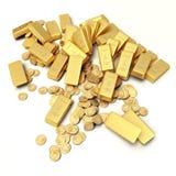 Gold treasure vector illustration