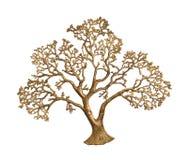 Gold tree isolated Royalty Free Stock Photos