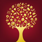 Gold Tree. Vector Stock Photos