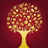 Gold Tree. Vector Stock Photos