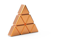 Gold   triangle Royalty Free Stock Photos