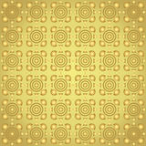 Gold Triangle and Circle and Curve Cup Pattern on Pastel Backgro Stock Image