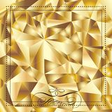 Gold triangle foil texture wallpaper Royalty Free Stock Image